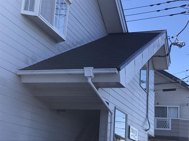 スレート屋根葺き替え施工完了画像