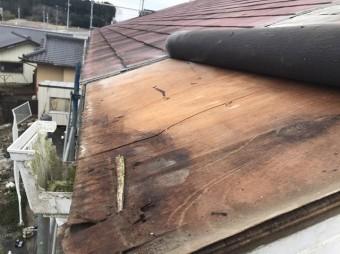屋根下地浸水