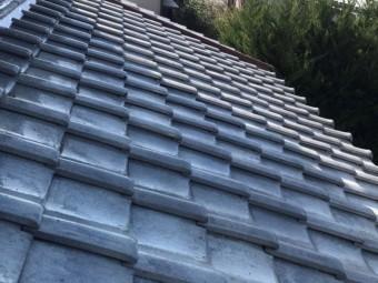 葺き直しが完了した水戸市の釉薬瓦屋根
