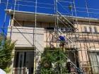 常陸太田市のスレート屋根改修カバー工事始まりました
