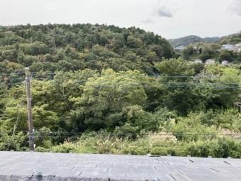 南面屋根から撮影した風除けのない立地風景