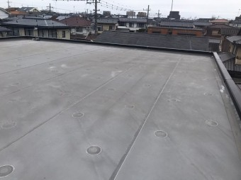 陸屋根シート防止西画像