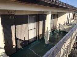 防水工事前の2階のベランダ