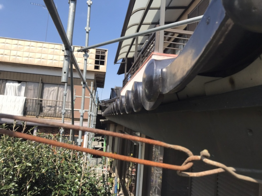 銅製角樋を撤去しスッキリとした画像