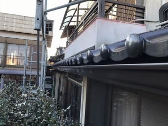 玄関上の雨樋設置アーバントップΣ90