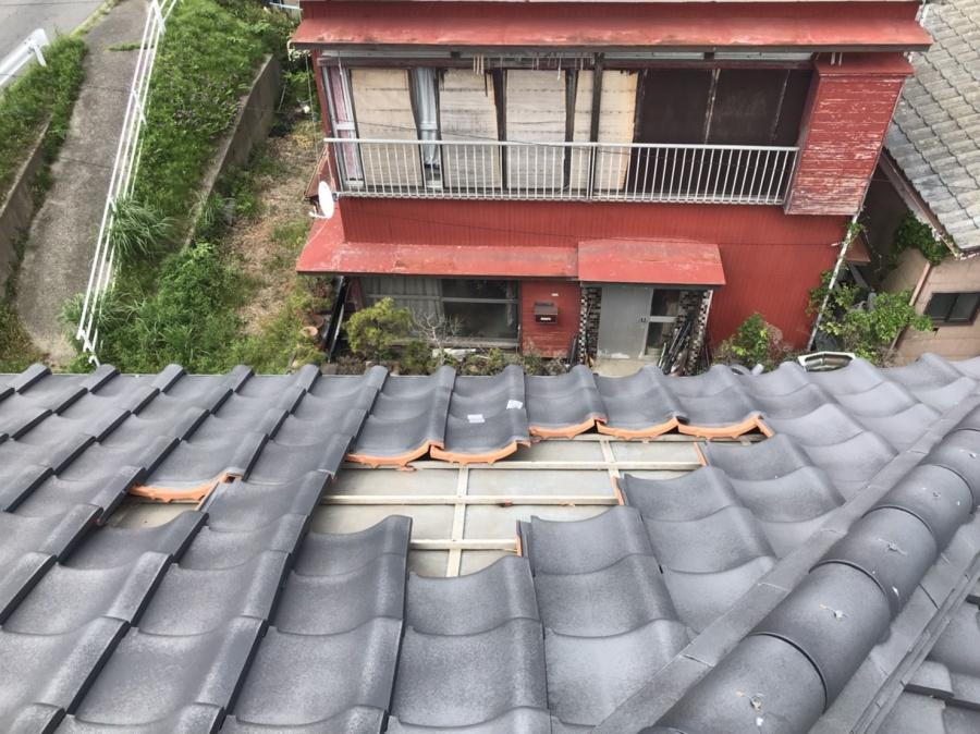 1部補修屋根工事が必要な瓦屋根