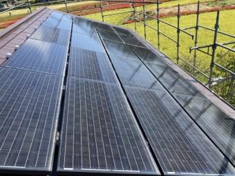 カバー工事後に太陽光を再設置