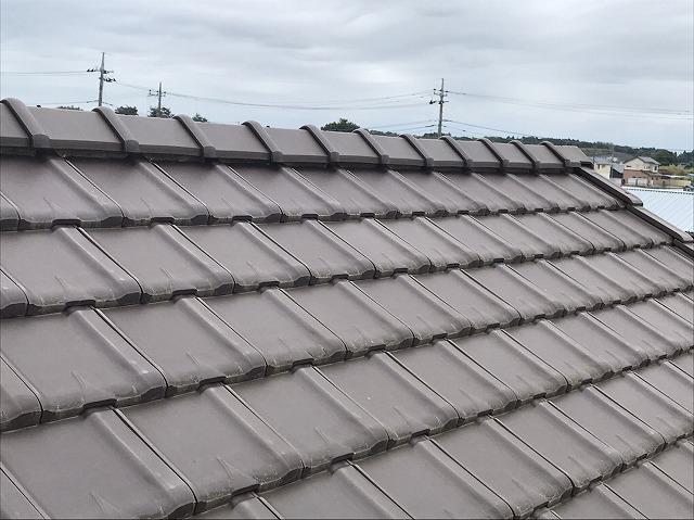 水戸市で屋根調査の依頼をいただいたお客様宅の棟部分