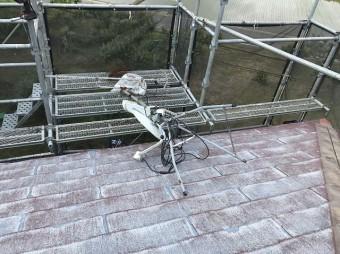 ひたちなか市で粘着式防水シートを使用したパミールへのカバー工法でアンテナ撤去を行いました
