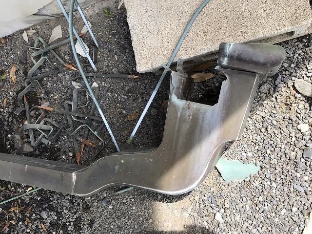 数十年使用の解体した銅アンコー集水器