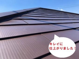 ひたちなか市のパミールへのカバー工法でガルバリウム鋼板でパミールへのカバー工法完了お客様も喜んでいます