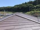 城里町でパミール屋根に行われたカバー工法完成写真