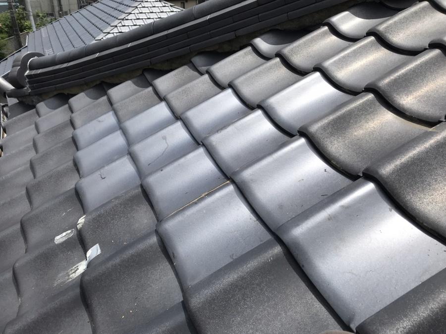 台風被害を受けて桟瓦を差し替えて屋根補修完了