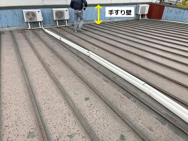 パラペット内に葺かれている瓦棒屋根