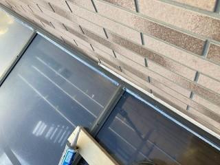 コーキングでのテラス屋根の雨仕舞い完了
