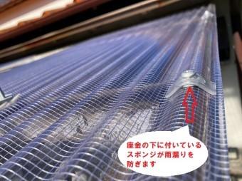 波板ビスのスポンジが雨漏りを防ぎます