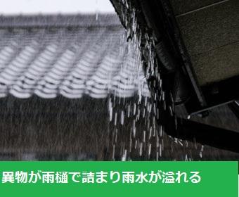軒下への雨水