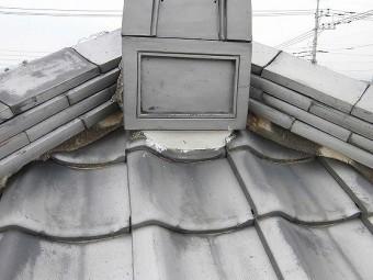 棟漆喰の補修