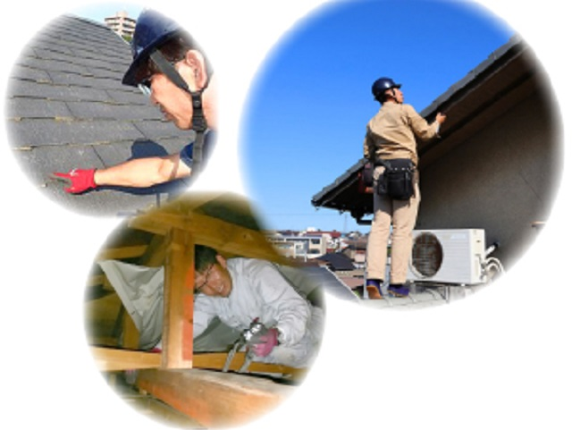 屋根の状態を隅々まで確認する